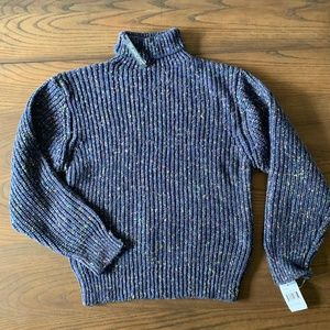 BLANKNYC Denim Multicolor Turtleneck Sweater Sz L